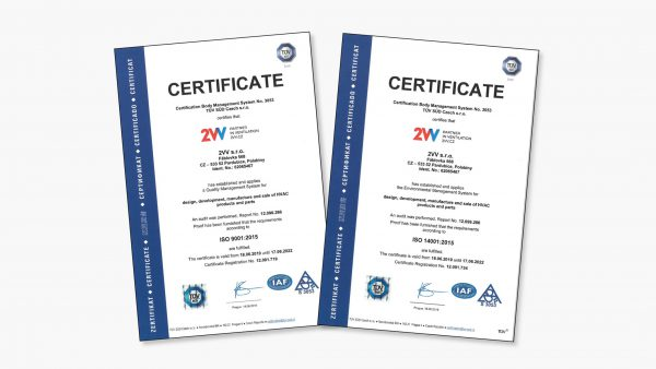 2VV successfully met ISO certification