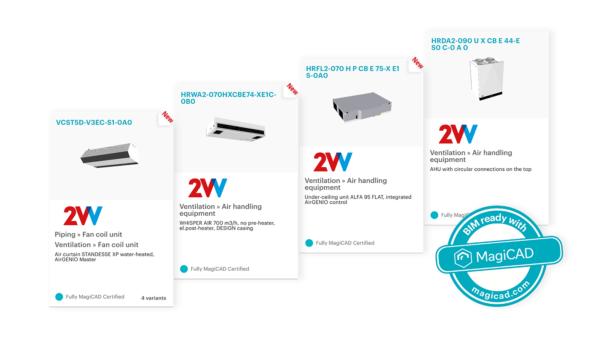 2VV BIM DATABÁZE – Nové produkty